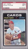 1971 Topps baseball card 606 Chuck Taylor St. Louis Cardinals PSA 7 NM