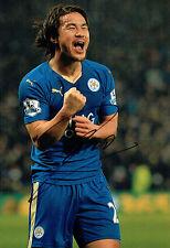 Shinji di Okazaki Leicester City Football SIGNED AUTOGRAFO Foto AFTAL COA 岡崎 慎司