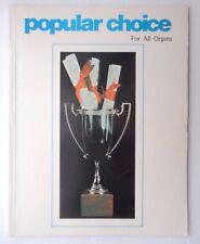 Scelta popolare per tutti gli organi VINTAGE PB BOOK 1976 23 CANZONI