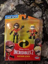 INCREDIBLES 2 DISNEY PIXAR  JUNIOR SUPERS ELASTIGIRL AND DASH (RARE)