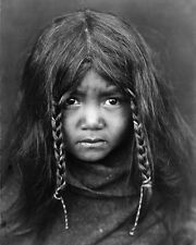 NATIVE AMERICAN BOY 8X10 PHOTO EDWARD S. CURTIS