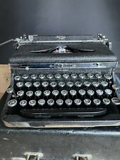 Rare Royal Deluxe 1935 Typewriter Very Clean Ribbon Serviced Original Withcase