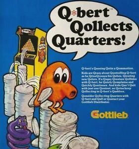 Qbert Arcade Flyer Original NOS 1982 Video Game Artwork Sheet Gottlieb Retro