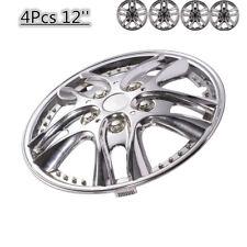 "Hubcap Hubcaps 12inch Rim Wheel Skin Cover 4pcs Set 12"" Hub Caps Style VH Silver"