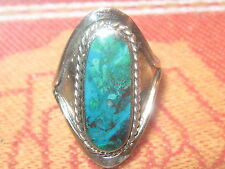 ALPACA SILVER TRIBAL CHRYSOCOLLA BLUE TURQUOISE ADJUSTABLE RING SIZES 5-12