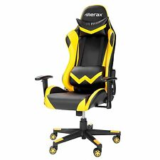 Merax Ergonomic Racing Chair High Back PU Leather Office Gaming Chair Yellow
