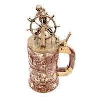 Disney Parks Pirates Of The Caribbean Skeleton Stein Mug Cup 50th Anniversary