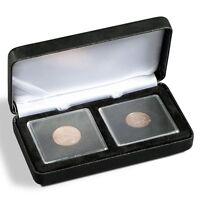 Ecrin pour 2 pièces de monnaie de collection + capsules de protection Gratuites