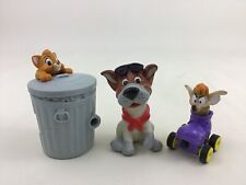 Oliver and Company Lot of 3 Kids Club Meal Figures Toys Vintage 1998 Burger King