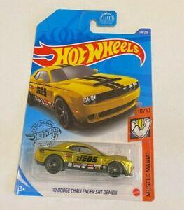 2020 Hot Wheels SUPER TREASURE HUNT '18 Dodge Challenger SRT Demon JEGS Car Gold