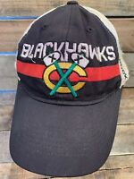 Chicago BLACKHAWKS Hockey NHL Distressed Fitted Adult Cap Hat Size L/XL
