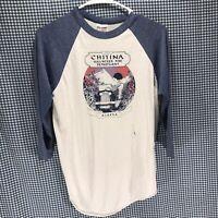 Vintage Chitina Fire Dept Alaska Raglan Baseball T-Shirt Men's Size Medium