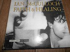 Ian McCulloch Faith & Healing CD Single 1989 VG+ Echo & The Bunnymen