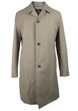 Boss Sélection Manteau de coton legatow en 50 / M beige avec doublure en laine