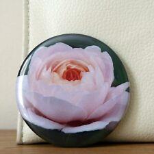 Mirror Pink Handbag Make Up Cosmetic Small Pocket Flower Travel Purse Ladies