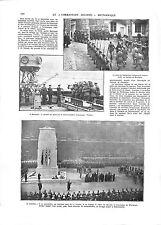 WWI London Soldat Inconnu The Unknown Warrior UK George V Whitehall ILLUSTRATION