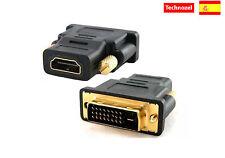 Conector DVI Macho a HDMI Hembra Adaptador DVI a HDMI Hembra a Macho