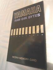 YAMAHA Memory Card MCD-64 Carte memoire SY TG Series RY Sy99 Tg500 TG77 55 33 22