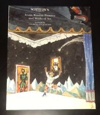 Sotheby's London Icons, Russian Pictures, & Works Of Art Auction Catalog June 94