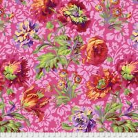 Baroque Floral - Red Philip Jacobs for Kaffe Fassett  cotton Quilting Fabric BTY