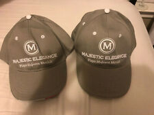 2 Gray Majestic Elegance Mexico Caps Hats