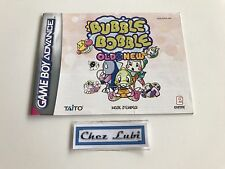 Notice - Bubble Bobble Old & New - Nintendo Game Boy Advance GBA - FRA