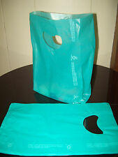 "100 Bags 7 x 3 x 12"" Teal Plastic Merchandise Bags with Handles New"