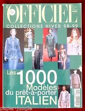 L'Officiel 1000 Models Ready to Wear #11 Winter 1998/99 Italian Collections