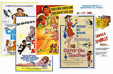 CARRY ON  FILMS - SET OF 5 - A4 POSTER PRINTS # 2
