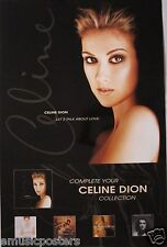 """Celine Dion """"Let'S Talk About Love"""" U.S. Promo Poster - Adult Contemporary Music"""