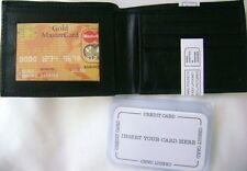 Hand Crafted Black  Bi Fold  Mens Wallet  Free Shipping