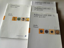 LOT 3 LHS Nimismatik Ancient coins catalogs & 1 LHS Liste 2009