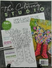 The Coloring Studio Stampington Autumn 2016 110+ Pgs of Coloring FREE SHIPPING