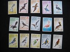 Turk & Caicos Islands: 1973 Birds Set of 15 UMM