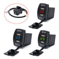 12V-24V DC 3.1A Dual LED USB Car Power Supply Charger Port Socket Universal j-c