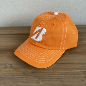 Bridgestone Golf Embroidered Strapback Hat Cap Orange White One Size New