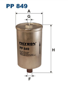 Fuel Filter FILTRON PP 849 for FORD SIERRA Turnier 2.0 i DOHC 2.8 4x4 2.9