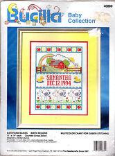 "Bucilla Baby Coll. Counted Cross-Stitch Kit 40880 ""Barnyard Babies"" Birth Record"