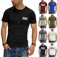 Jack & Jones Herren T-Shirt Print Shirt Kurzarmshirt Casual Stretch Short Sleeve