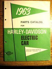 1963 1964 1965 Harley Davidson Electric Car Golf Cart Parts Catalog Manual