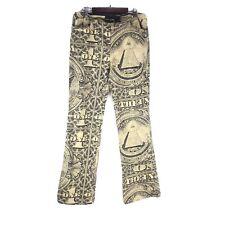 DKNY one dollar printed vintage flare leg cotton pants juniors 9