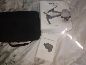 """Used 1 time* DRONE """" Mavic Pro platinum with hard case & extras"""