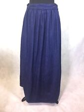 Vintage Calvin Klein Women's Denim Long Skirt Size 12 Indigo 2 Pockets