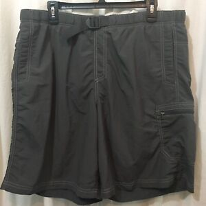 Columbia Men's Gray Nylon Belted Shorts with Mesh Lining Size L *