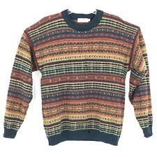 VINTAGE Highland Glen Sweater Adult Large Multicolor Lambswool Wool Scotland Men