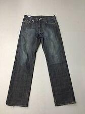 "herren hugo boss ""straight leg"" jeans-w34 l34-dunkelblau waschung-super zustand"