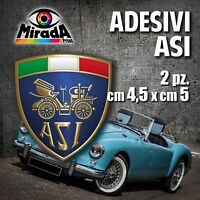 Adesivi / Stickers ASI auto ruote storiche old rally legend epoca OFFERTA! 4,5X5
