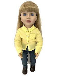 Australian Girl Doll Emily Blonde Hair Blue Eyes