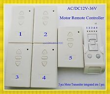 Multiple Motor Remote Controller AC/DC 12V 24V 36V 5 Motor Forwards Reverse sepa