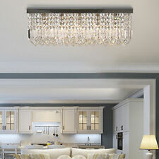 Modern Crystal Ceiling Light Square Chandelier for Home Office Hotel Silver